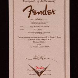 Fender Stratocaster 1959 relic Custom Shop